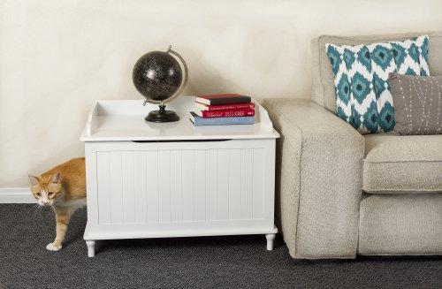 Designer-Catbox-Litter-Box-Enclosure-in-White-0-3
