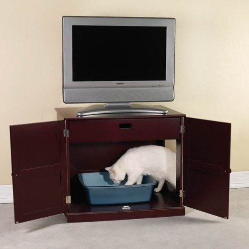 Meow-Town-MDF-Litter-Box-Cat-Cabinet-Mahogany-0-1