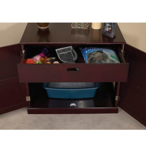 Meow-Town-MDF-Litter-Box-Cat-Cabinet-Mahogany-0-3