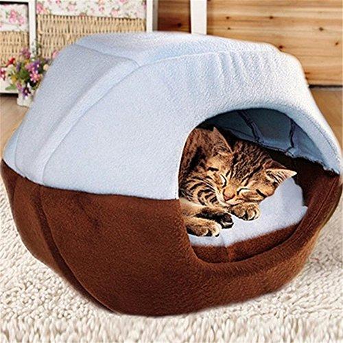 Ffmode Cozy Pet Dog Cat Cave Mongolian Yurt Shaped House