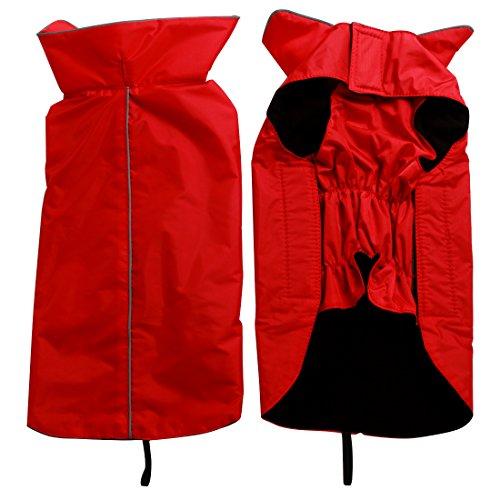 Joydaog Fleece Lined Warm Dog Jacket For Winter Outdoor